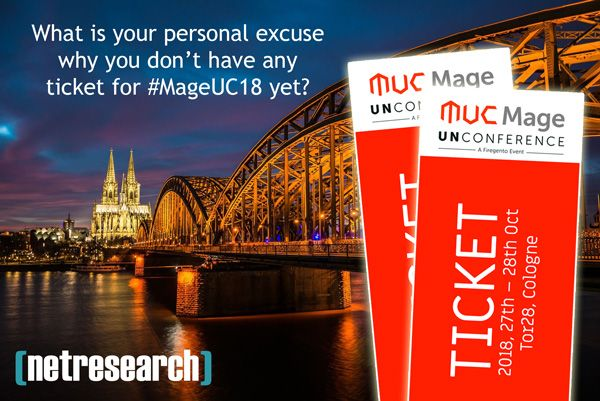 Get some free tickets for MageUC18 sponsored by Netresearch